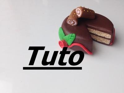 Tuto Fimo - Gâteau de Noël