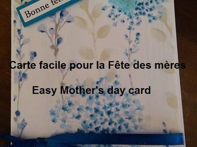 DIY Carte scrapbooking Fête des mères n°1 année 2016. Mother's day card n°1