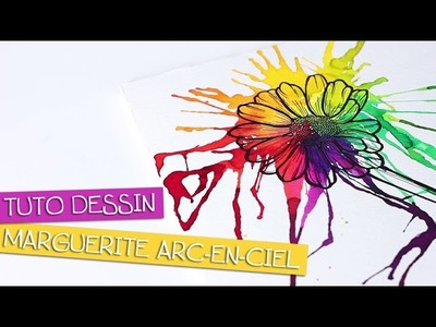 TUTO DESSIN - Marguerite et effet rainbow - Speed painting