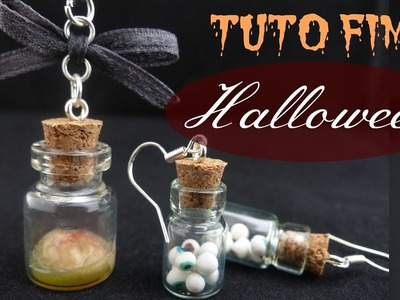 • [TUTO FIMO HALLOWEEN] Fioles Yeux & Cerveau. Halloween Polymer Clay Tutorial •