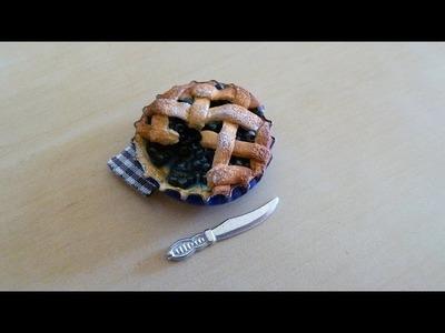 Tuto fimo- Tourte aux myrtilles - blueberry pie tutorial