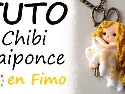 Tutoriel Fimo - Collier chibi Raiponce avec PimPomPerles.fr. Polymer Clay Tutorial