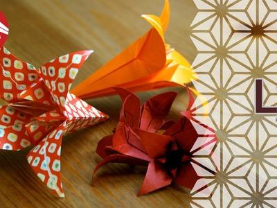 Origami - Le lys - Lily [Senbazuru]