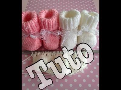 Tuto tricot : chaussons bébé 2.3