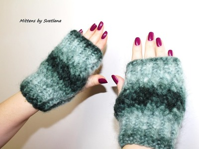 Tutoriel mitaines fantaisie. Knitting mittens tutorial