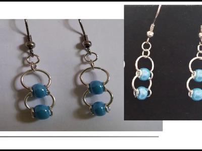 Tutoriel bijoux : boucle d'oreille anneaux et perles