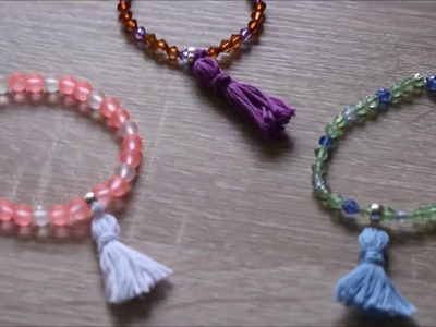 DIY : Bracelet Pompon. Bracelet d'été