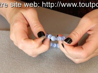 Finitions d'un fil élastique pour bijoux