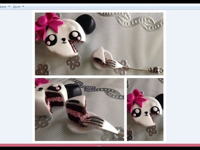 [TUTO FIMO] Gâteau Panda ! ♥