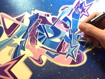 Alex Graffiti Canvas. Graff sur toile Wildstyle [HD]