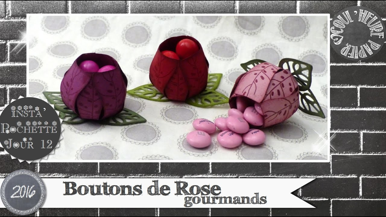 vid o tuto boutons de rode gourmands par coulheure papier. Black Bedroom Furniture Sets. Home Design Ideas