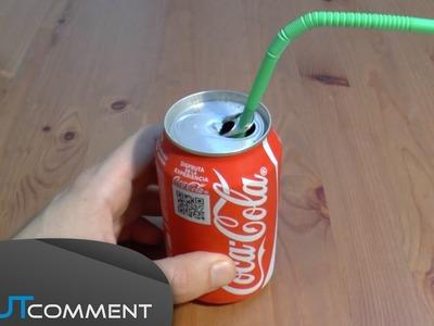 Conseil pour boire une canette avec une paille