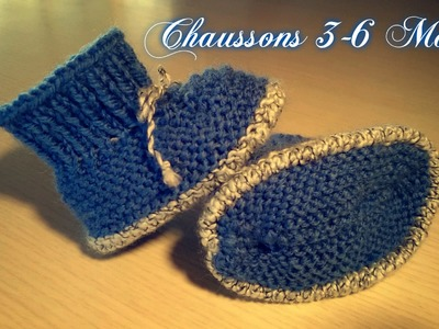 "Tuto Tricot ""Chaussons Bébé (N°6) 3-6 Mois"""