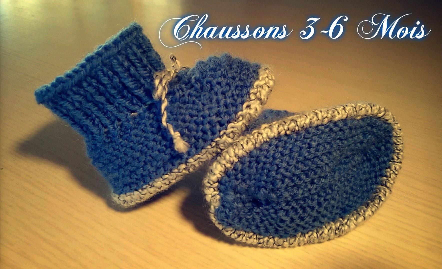 "Tuto Tricot ""Chaussons Bébé (N°6) 3-6 Mois"""
