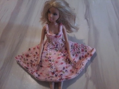 Tuto tricot : robe poupée mannequin explication pendant le diaporama