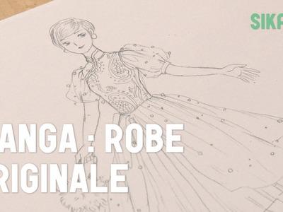 Dessiner Une Robe Avec Un Design Original, Et Différents Types De Tissus.