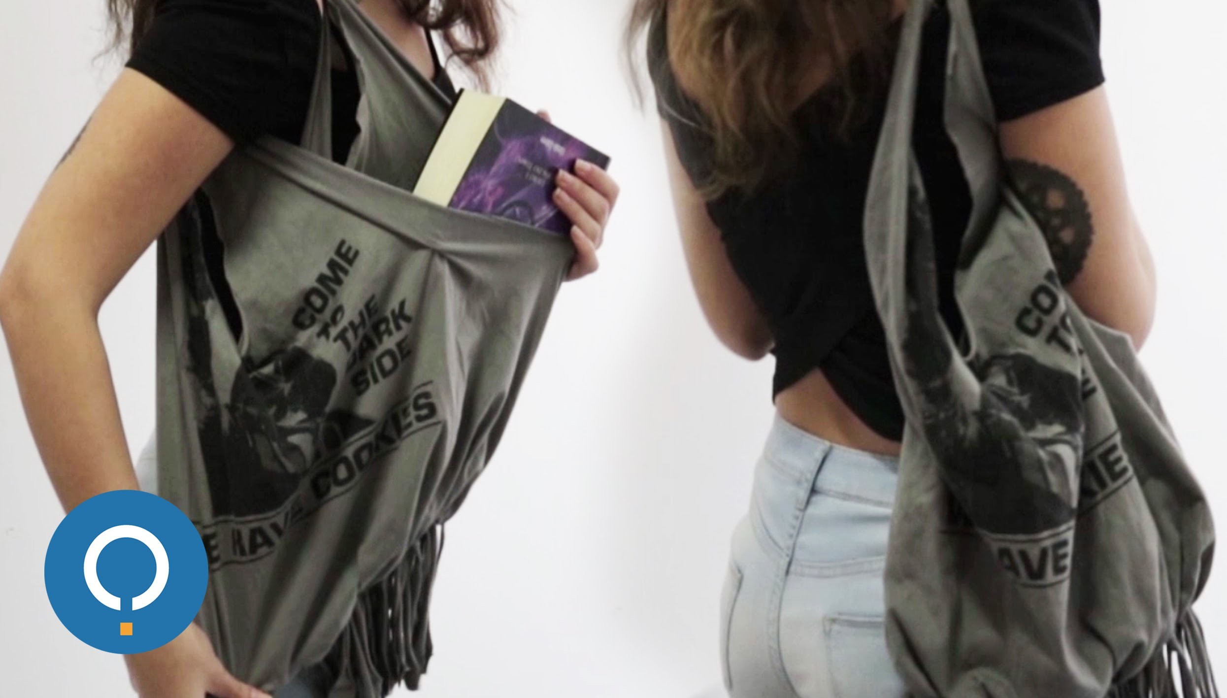 DIY : Faire un sac avec un vieux t-shirt