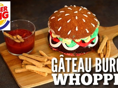 RECETTE GATEAU BURGER WHOPPER BURGER KING | BURGER CAKE | CAKE  DESIGN