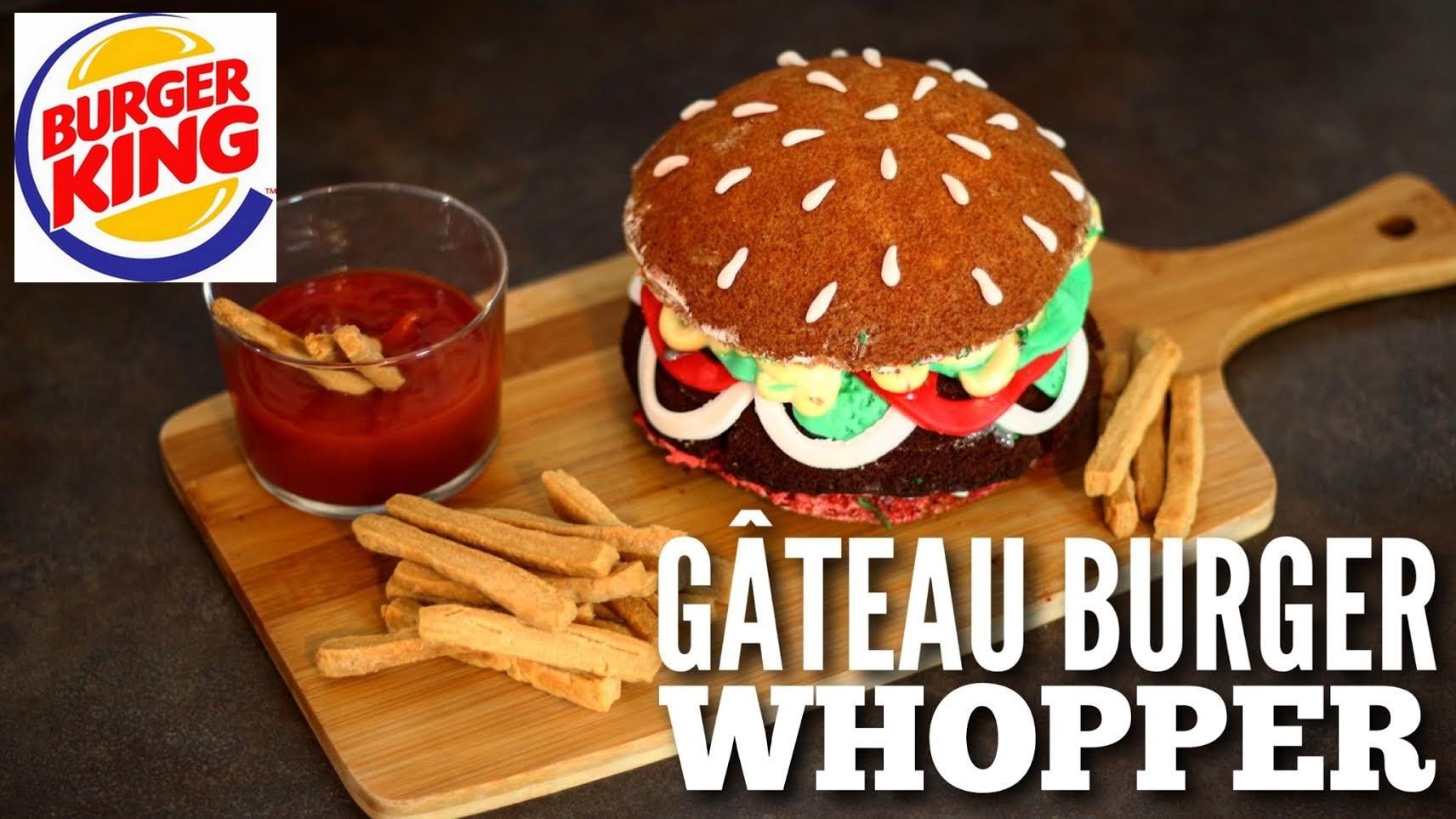 RECETTE GATEAU BURGER WHOPPER BURGER KING | BURGER CAKE | CAKE  DESIGN