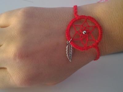 """Tuto réaliser son Bracelet """"attrape rêves"""""""