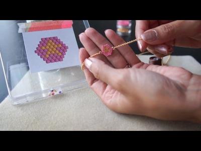 Tutoriel de tissage de perles en brick stitch (français)