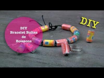 DIY bracelet canettes de boissons