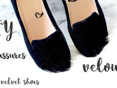 DIY chaussures en velours. DIY velvet shoes