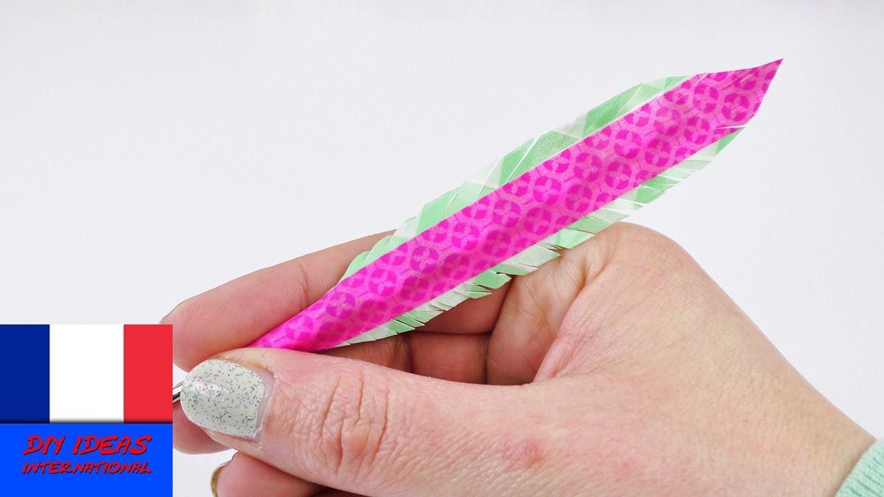 DIY Washitape Stylo avec plume | Super stylo à faire soi-même | Idée de cadeau simple