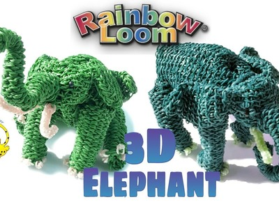 Rainbow Loom 3D Elephant (Part 6.6) Elefante, слон, l'éléphant, 象