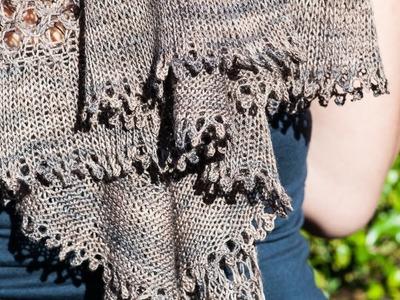Tuto tricot: bordure Picots