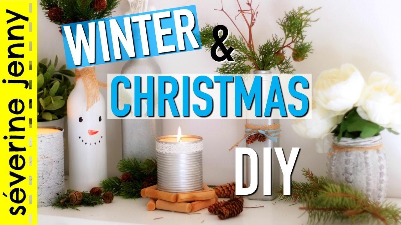 diy no l hiver winter christmas room decor fran ais. Black Bedroom Furniture Sets. Home Design Ideas