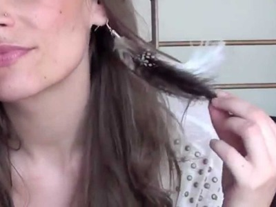 Réaliser une Boucle d'oreilles en Plume (version 1) : native style.feather earrings