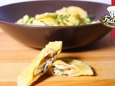 Recette de raviolis avec champignons faits maison
