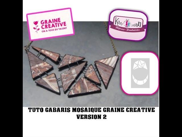 Tuto FIMO collier polymere geometrique gabaris mosaique Graine Créative version 2