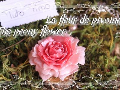[♥✿ Tuto Fimo : Fleur de Pivoine ✿♥] ~ [♥✿ Polymer Clay Tutorial : flowers peony ✿♥]