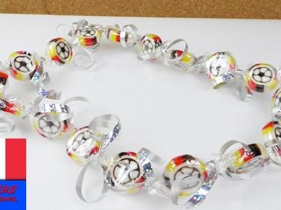 Football Euro 2016 Bricoler un collier de bonbons | Accessoire pour Fan pour l'Euro | Candy Fun