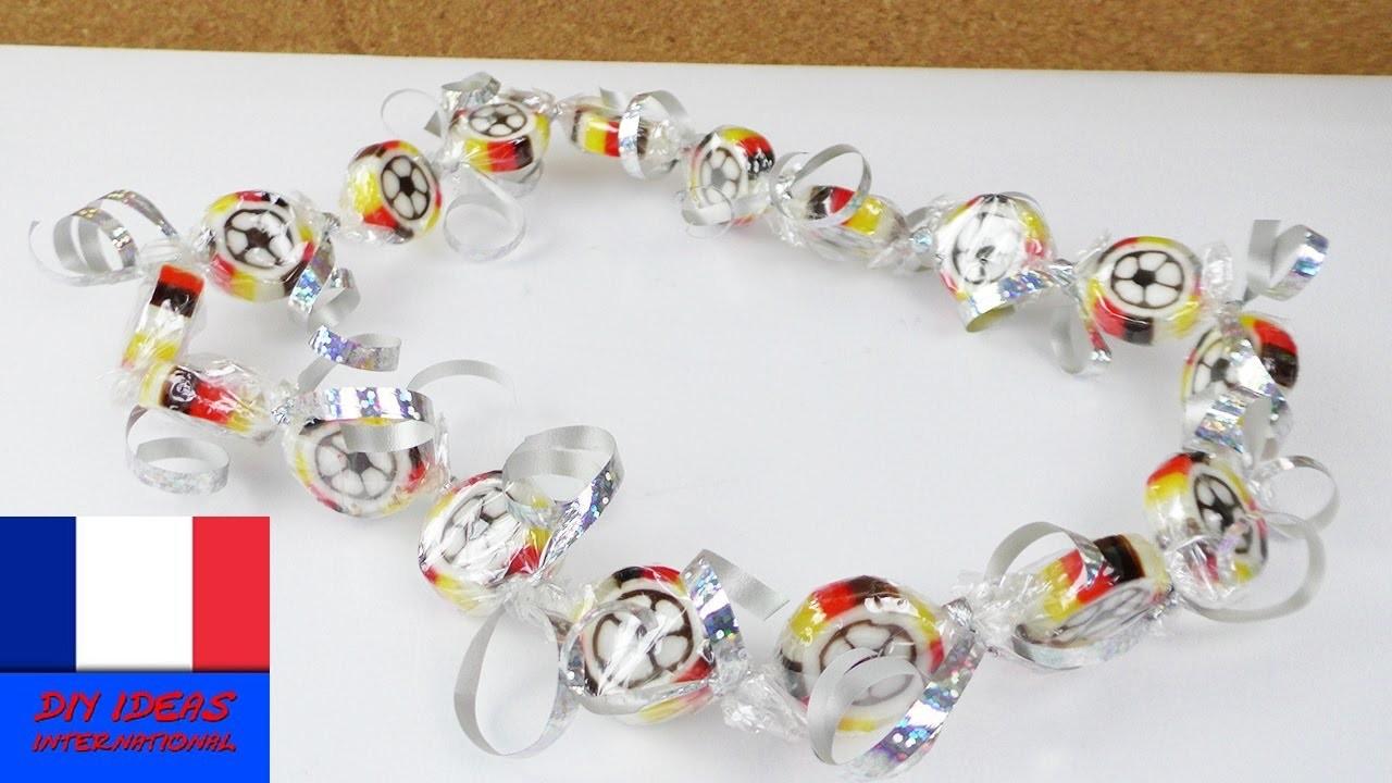 Football Euro 2016 Bricoler un collier de bonbons   Accessoire pour Fan pour l'Euro   Candy Fun