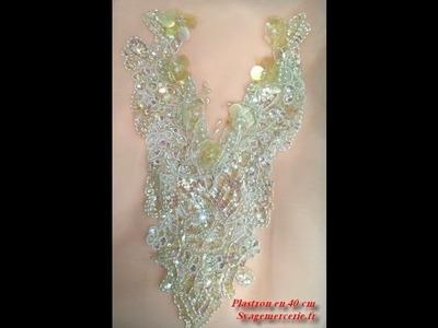 Plastron col accessoires robe de mariée, mercerie syage à Paris