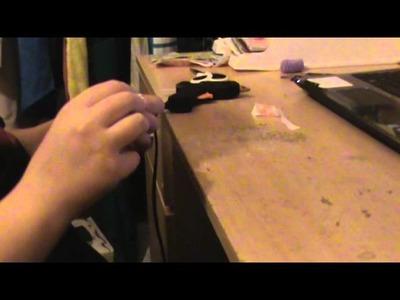 DIY {Accessoires} #1, Accessoires cheveux noeud papillon