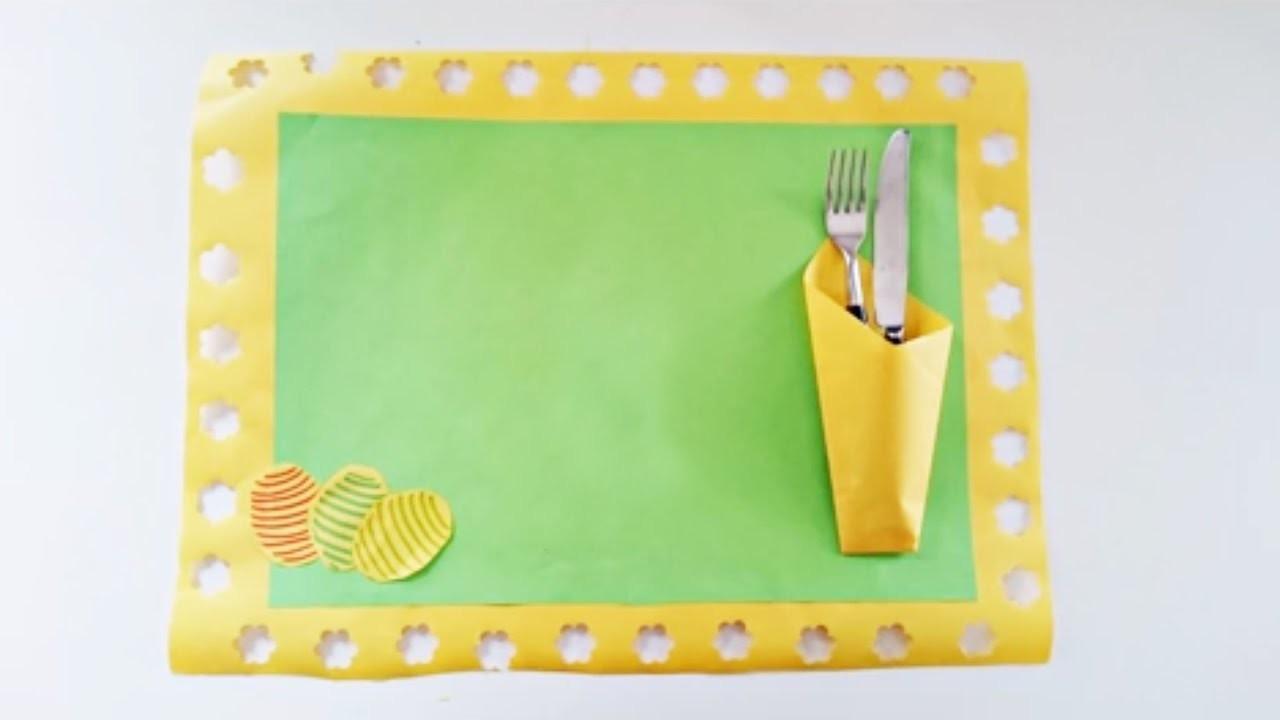 Bricolage de Pâques pour enfants. Fabriquer un set de table pour Pâques