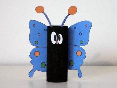 Joli papillon avec rouleau de papier toilette - Bricolage pour enfant - Activité manuelle