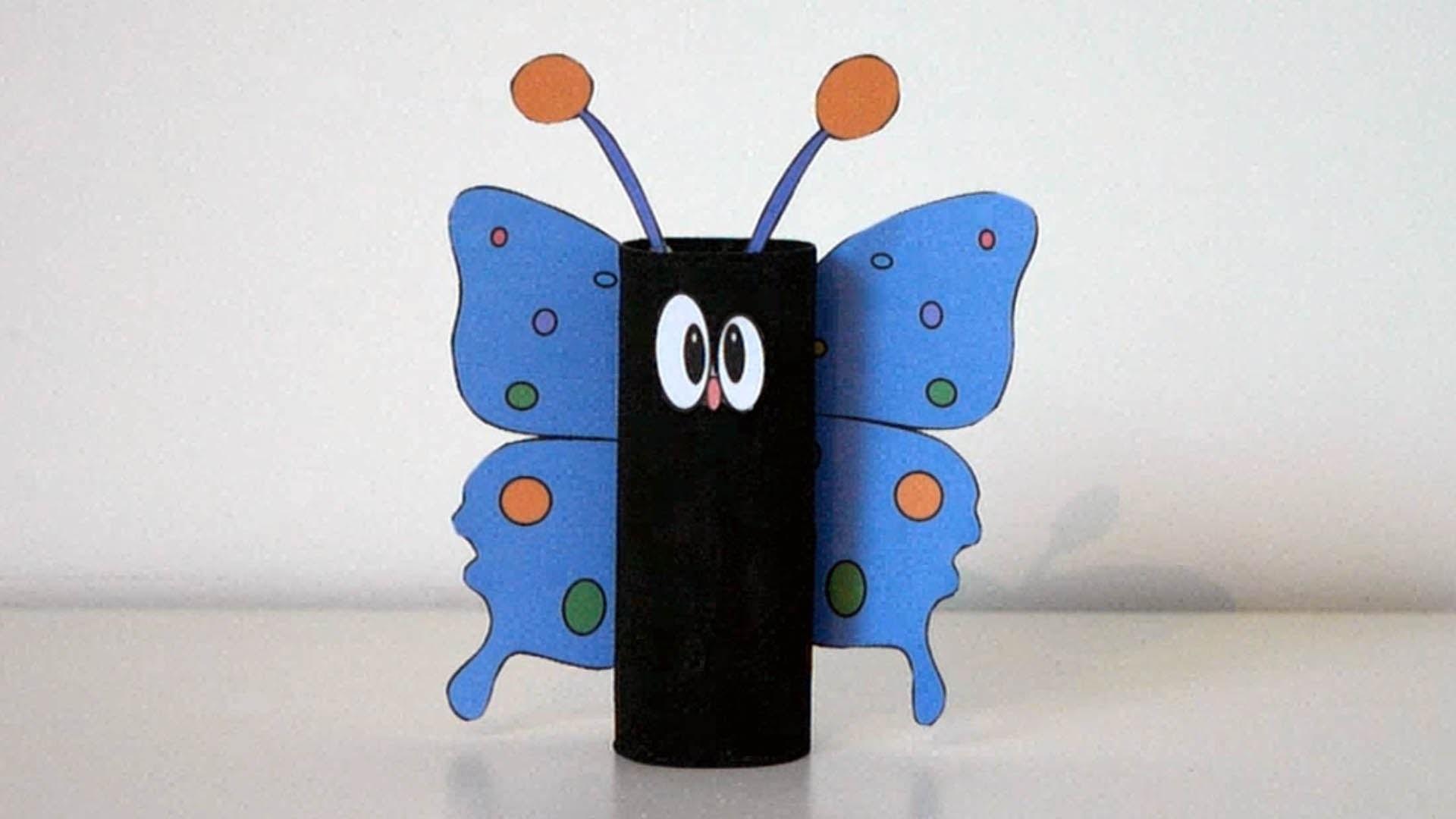 joli papillon avec rouleau de papier toilette bricolage pour enfant activit manuelle. Black Bedroom Furniture Sets. Home Design Ideas