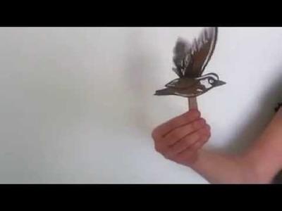 Oiseau en papier qui vole : bricolage