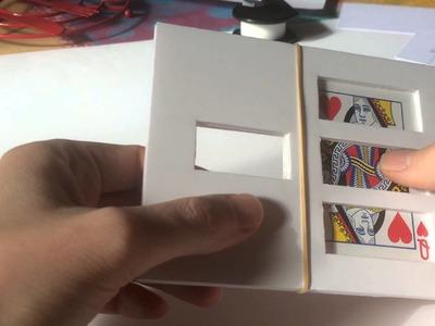 Petit bricolage maison d'un tour de magie zigzag avec une carte