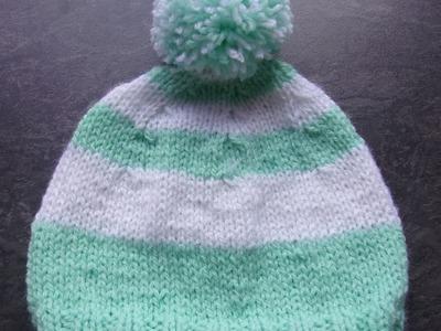 Bonnet 0.3 mois au tricot
