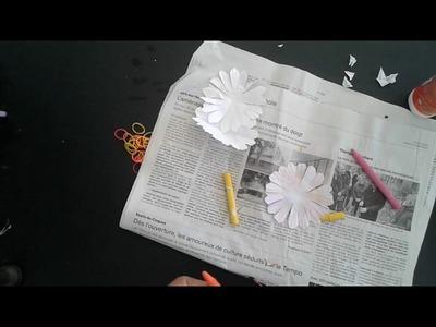 Fleur facile en papier   TAP  Bricolage enfant   DIY