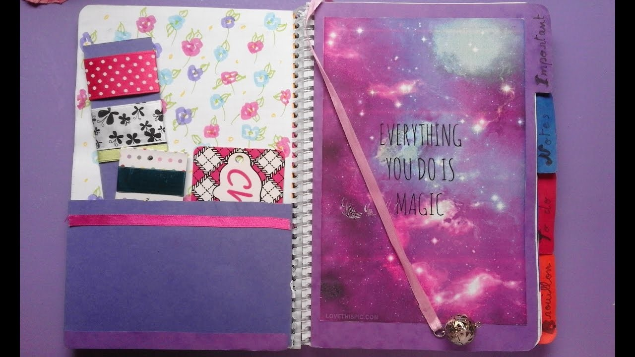 DIY BACK TO SCHOOL. cree ton agenda. planner