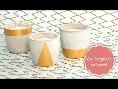 DIY Déco ♡ Les Bougeoirs en Ciment