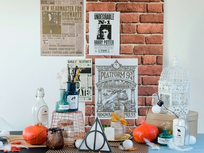 DIY HARRY POTTER. The enchanted table