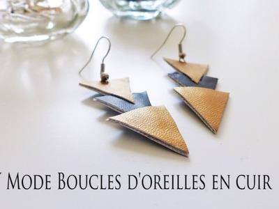 DIY Mode: Boucles d'oreilles en cuir